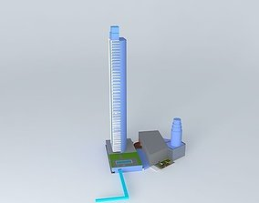 3D model Convention Center Hotel