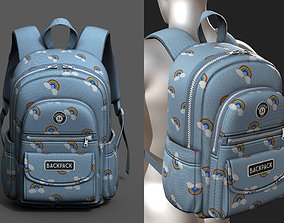 Backpack Camping Generic Color 3d model low-poly