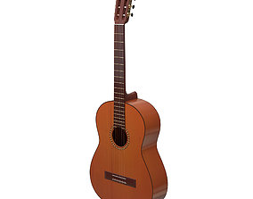 3D Classical acoustic guitar