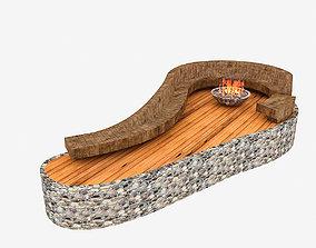 3D model garden fire pit