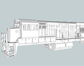 3D print model GE U18B Locomotive Shell N Scale
