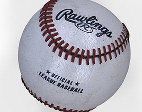 Rawlings official league baseball 3D asset