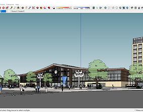 Sketchup Bus terminal C9 3D model