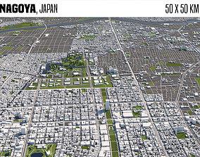 3D model Nagoya Japan 50x50km