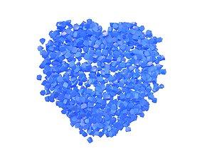 Voxel Heart Rock Style v1 002 3D model
