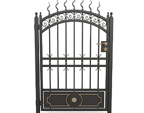 Wrought iron gate 10 3D