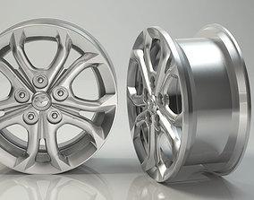 3D Rim 3D Steel Tire