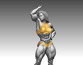 Female Woman bodybuilder sculptures 3D print 3D model