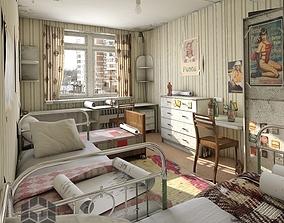 Hostel room 3D