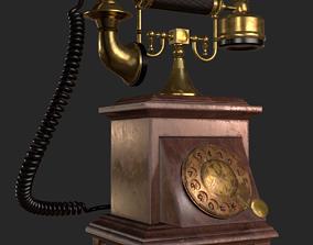 Old Antique Phone PBR 3D model