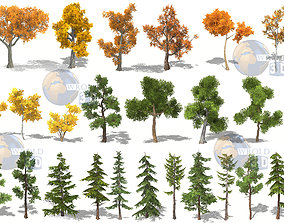 Lowpoly Tree Mega Collection Pack 3d model forest