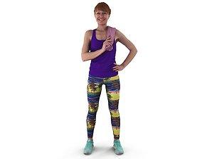 3D model Happy Fitness Woman