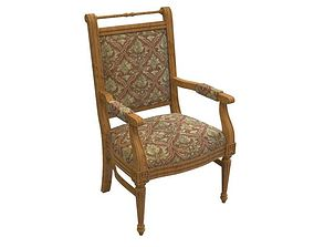 French Accent Chair 3D model