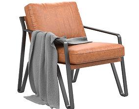 Owen Leather Armchair 3D model