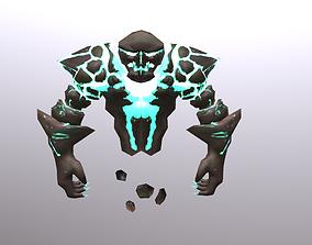 3D model animated Earth Spirit Elemental