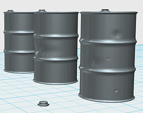 Oil barrels in 1 35th scale 3D print model