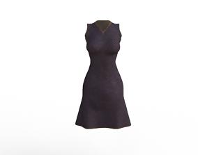 3D model Simple mini dress