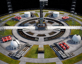 Rocket launch complex 3D