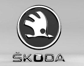3D print model Skoda logo
