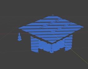 Low poly Education symbol 2 3D model