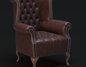 3D model Chesterfield Queen Anne