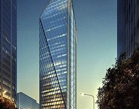 Skyscraper Office Building 056 cityscape 3D model