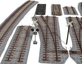 Railroad Track Pack 3D asset