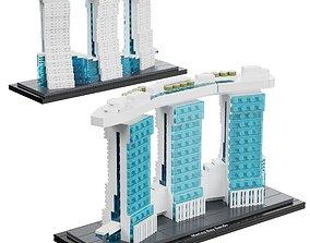 lego Lego - 21021 Marina Bay Sands 3D model
