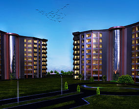3D model Apartments with interior Plan and master Plan
