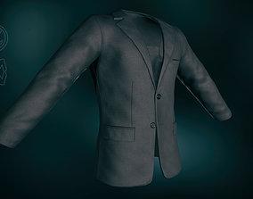 3D model Black Blazer Jacket