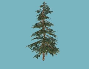 spruce 3D asset game-ready
