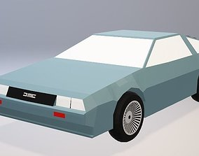 3D model DeLorean DMC-12 - Low Poly