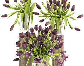 centerpiece 3D Bouquet of tulips