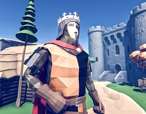 Stylized Medieval War Pack 3D asset rigged