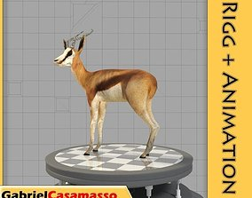 Thomson-Gazelle 3D asset