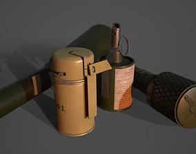 3D model WW2 Soviet Grenades Pack