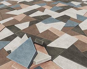 3D model Paving tile angle splinter n2