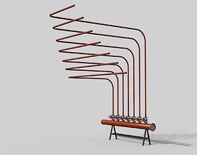 Water distributor Comb manifold 3D model