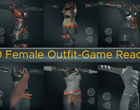 3D 10 Female Outfit -Game Ready