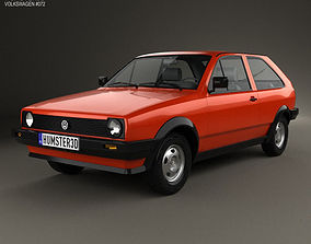 3D model Volkswagen Polo coupe 1990