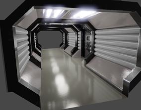 3D model Sci-fi Corridor Retro
