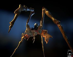 3D model BioMech Alien Spider LowPoly