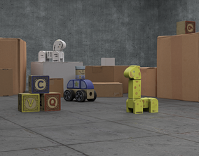 Shipping purposes 3D asset
