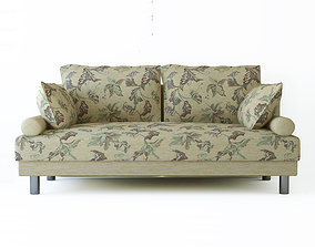 Low poly fabric armchair sofa jacquard 3D model low-poly