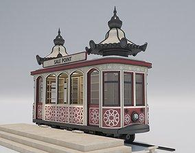 Vintage Tram Style Kiosk 3D