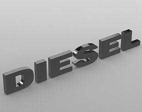 3D model diesel logo