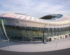 3D model Football Soccer stadium