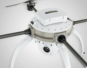 Drone 3D model low-poly