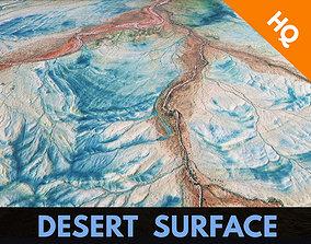 Desert Surface Terrain Relief Landscape 3D asset 2