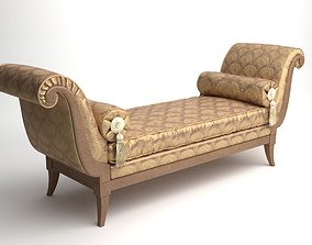 Classical Bench with Pillows 3D